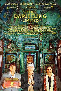 <i>The Darjeeling Limited</i> 2007 film by Wes Anderson