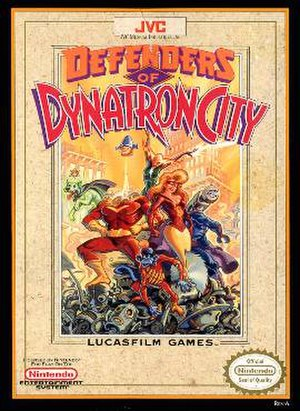 Defenders of Dynatron City - Cover art
