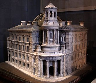 Coal Exchange (London) - James Bunstone Bunning's design model for the Coal Exchange, held by the Royal Institute of British Architects and displayed by the Victoria and Albert Museum.