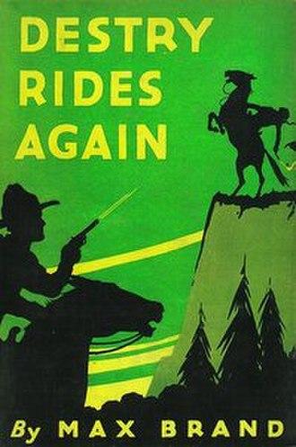 Destry Rides Again (novel) - Image: Destry Rides Again (novel)