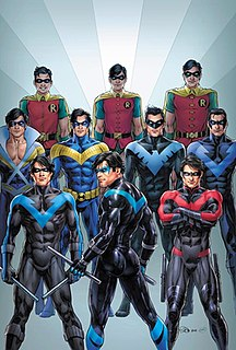 Dick Grayson One of several fictional characters using the identity Robin