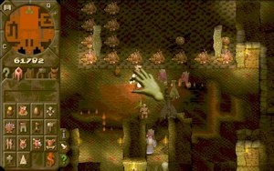 Dungeon Keeper - Navigating the built-up dungeon with the Hand of Evil