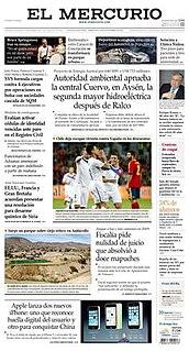 <i>El Mercurio</i> Chilean newspaper