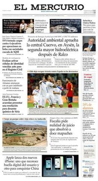 Front page of the main body of the newspaper's 11 September 2013 edition