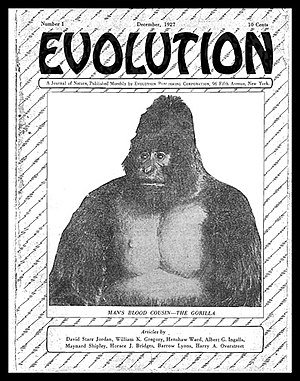 L. E. Katterfeld - Cover of the first issue of Katterfeld's Evolution, December 1927.