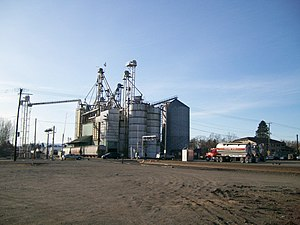 Ferndale, Washington - Grain storage and rail line