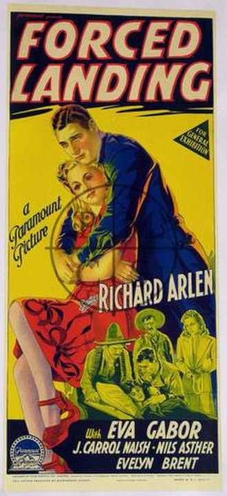 Forced Landing (1941 film) - Theatrical poster