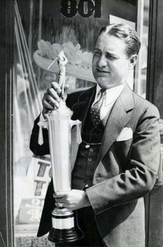Frank Nied - Frank Nied in 1935 with a golf trophy that he donated for a tournament at J. Ed Good Park in Akron, Ohio