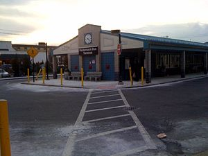 Hackensack Bus Terminal - The terminal as viewed from River Street