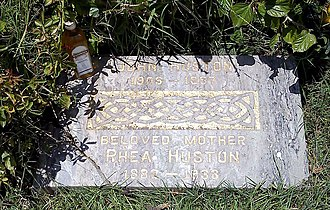 John Huston - Grave of John Huston and his mother, Rhea, at Hollywood Forever