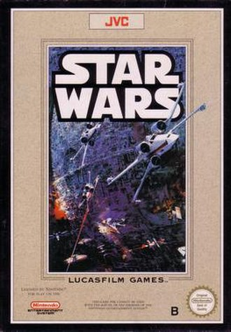 Star Wars (1991 video game) - European NES Cover art