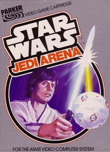 The cover shows Luke Skywalker deflecting a laser blast from a Seeker ball by using his lightsaber.