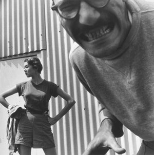 Joel Oppenheimer - Beauty and the Beast, Oppenheimer with Francine du Plessix Gray at Black Mountain College, 1951. Photograph by Jonathan Williams.
