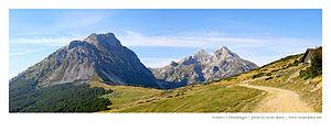 Vasojevići - Komovi Mountains, Kom Vasojevićki on the left
