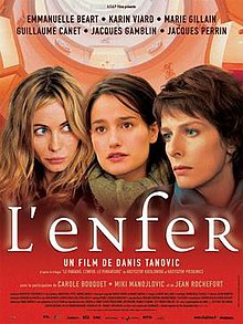 Promotional poster for L'enfer