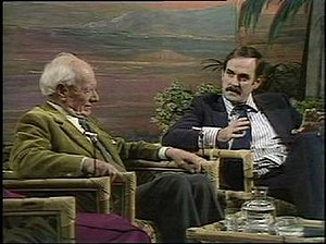 "Friday Night, Saturday Morning - John Cleese tells Malcolm Muggeridge that ""four hundred years ago, we would have been burnt for this film. Now, I'm suggesting that we've made an advance."""
