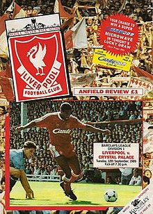 Liverpool 9–0 Crystal Palace (1989) programme cover.jpg