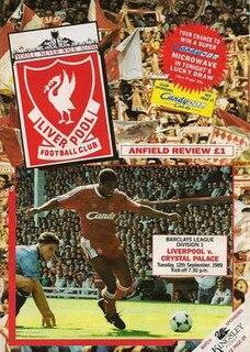 Liverpool 9–0 Crystal Palace (1989) Football match