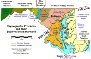 Geographical regions of Maryland