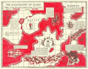 Skaro - The Dalography of Skaro as illustrated in The Dalek Book  (1964)