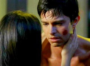 "Max Evans (Roswell) - Max looking at Liz Parker in the episode ""Ask Not""."