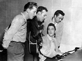Million Dollar Quartet - The Million Dollar Quartet. L to R: Jerry Lee Lewis, Carl Perkins, Elvis Presley and Johnny Cash