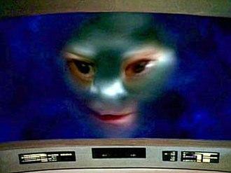 "Where Silence Has Lease - ""Nagilum"" appears to the Enterprise bridge crew."