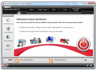 Nero Multimedia Suite - Image: Nero 10 Screenshot