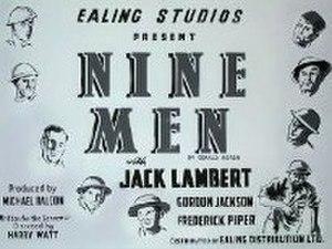 Nine Men (film) - UK release poster