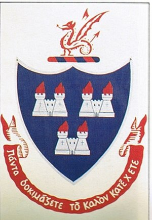 Wesley College (Dublin) - Old school coat of arms