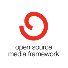 Open Source Media Framework logo and wordmark