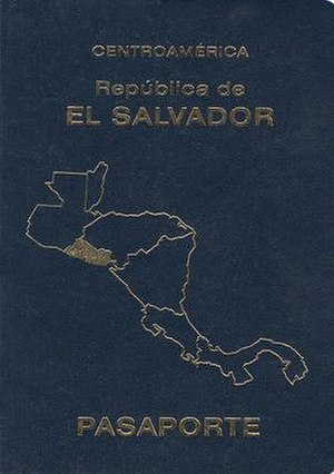 Salvadoran passport - Contemporary Salvadoran passport