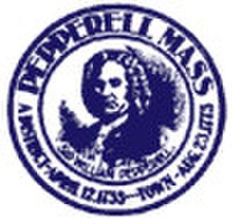 Pepperell, Massachusetts - Image: Pepperell, MA Seal
