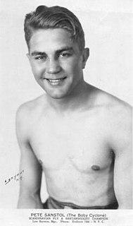 Pete Sanstol Norwegian boxer