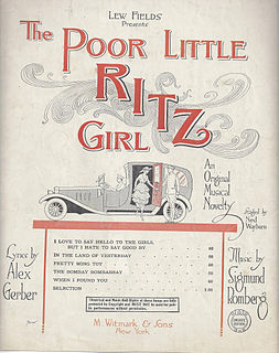 <i>Poor Little Ritz Girl</i> musical