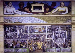 Detroit Industry Murals - Detroit Industry, South Wall, 1932-33. Detroit Institute of Arts.