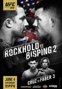A poster or logo for UFC 199: Rockhold vs. Bisping 2.