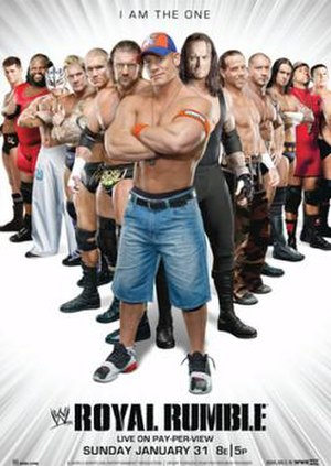 Royal Rumble (2010) - Promotional poster featuring various WWE wrestlers