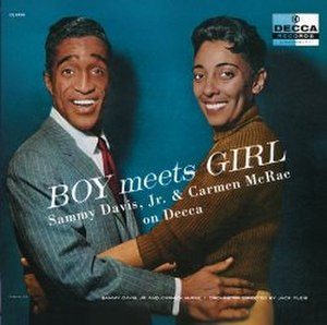 Boy Meets Girl (Sammy Davis Jr. and Carmen McRae album) - Image: Samcar