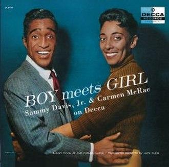 Boy Meets Girl (Sammy Davis Jr. and Carmen McRae album) - Image: Samcar