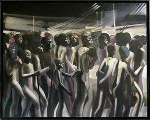 Philippe Derome - Selma marche, oil on canvas, by Philippe Derome 1965