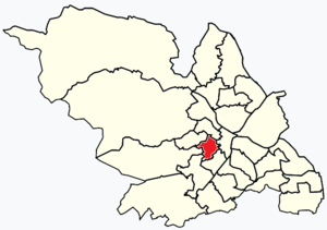 Broomhill and Sharrow Vale - Image: Sheffield wards Broomhill