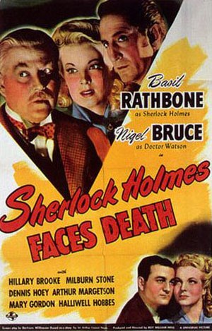 Sherlock Holmes Faces Death - 1943 US Theatrical Poster