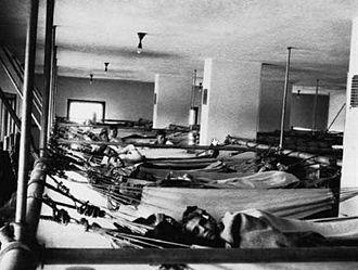 Recruit Training Command, Great Lakes, Illinois - U.S. Navy sailors sleeping in hammocks