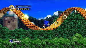 Gameplay screenshot of Sonic the Hedgehog 4, o...