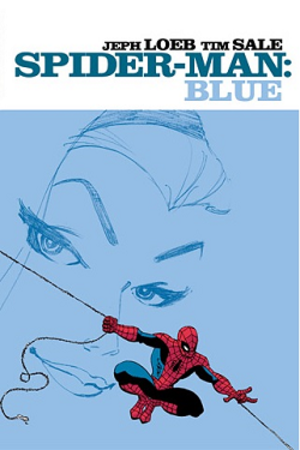 Spider-Man: Blue - Dustjacket of the hardcover collection  Art by Tim Sale.