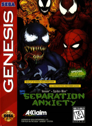 Venom/Spider-Man: Separation Anxiety - Packaging for the North American Genesis version.