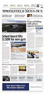 <i>Springfield News-Sun</i> newspaper in Springfield, Ohio