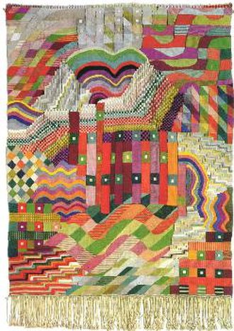 "Gunta Stölzl - Wall hanging ""Slit Tapestry Red/Green"" 1927/28"