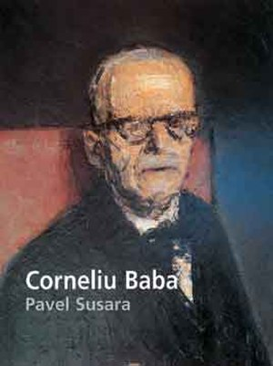 Tudor Arghezi - Cover of Pavel Susara's book on Corneliu Baba: detail from Baba's painting Tudor Arghezi with his wife, 1961